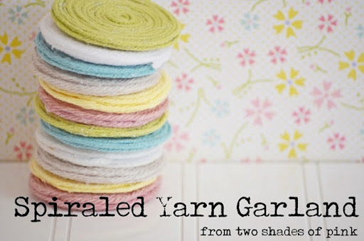 spiraled yarn garland