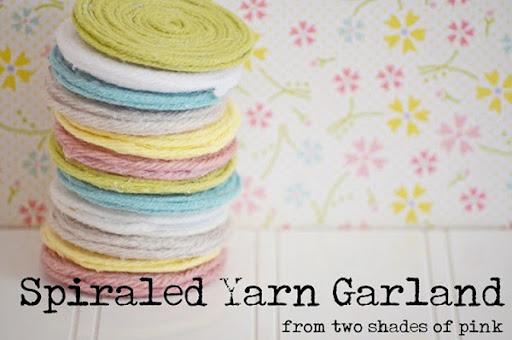 spiraled yarn garland