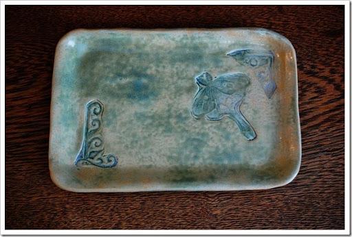 luna moth pottery