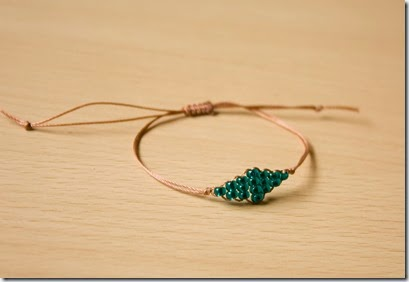 beaded diamond bracelet diy tutorial