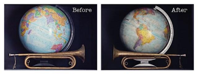 globeagedwithwax