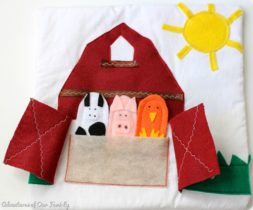 DIY quiet book farm animal template