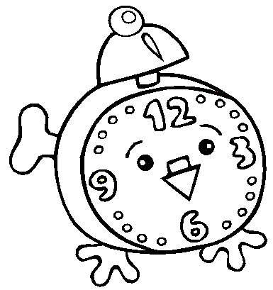 alarm clock coloring pages