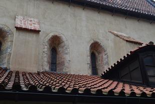 walking in the Jewish Quarter in Prague