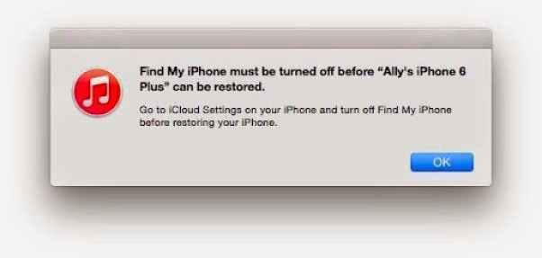 itunes restore your iPhone 1