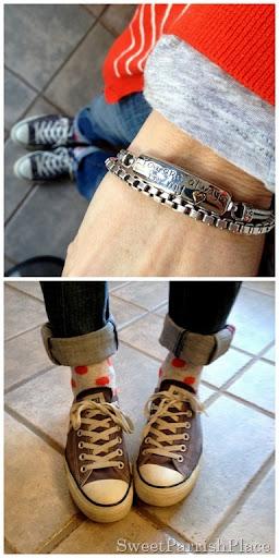 polka dot socks and chuck taylors