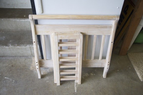 bed repurpose bench photo prop