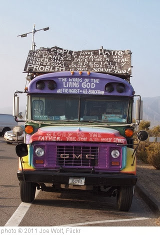 'Awesome Jesus Bus, Front Shot' photo (c) 2011, Joe Wolf - license: http://creativecommons.org/licenses/by-nd/2.0/