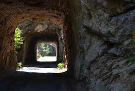 double tunnel on the Iron Mountain Road