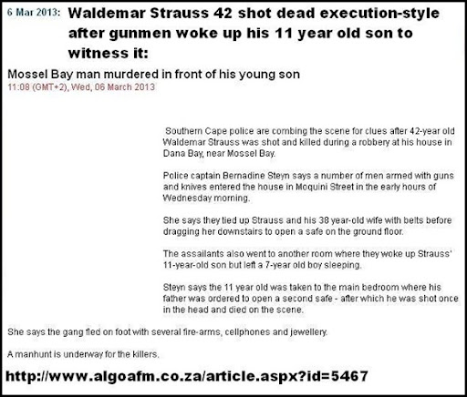 strauss Waldemar tied up shot execution style in front of 11yo son MosselbayMar62013