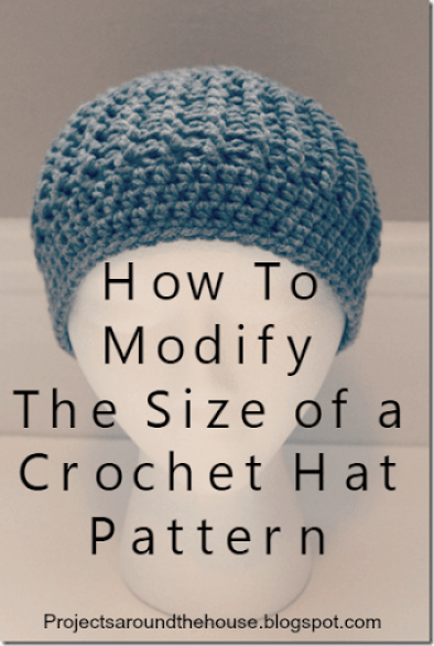 How to modify the size of a crochet hat pattern