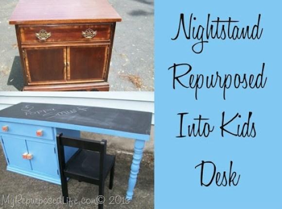 DIY Kid's Chalkboard Desk