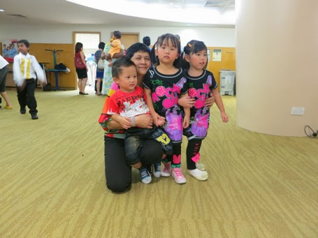 Yining with her teacher