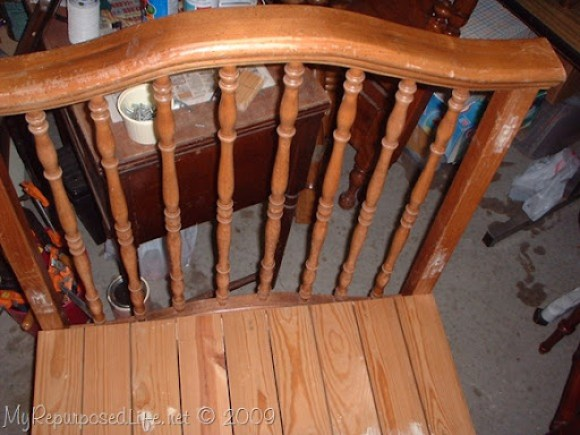 how to make a bench out of a crib