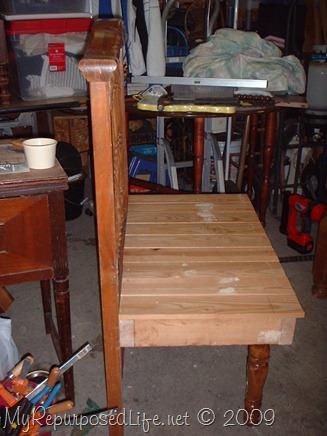 crib into a bench