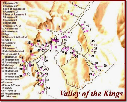 News View The World - Map of egypt showing valley of the kings