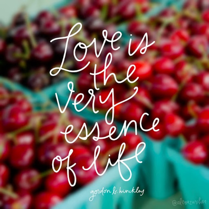 Love is the very essence of life