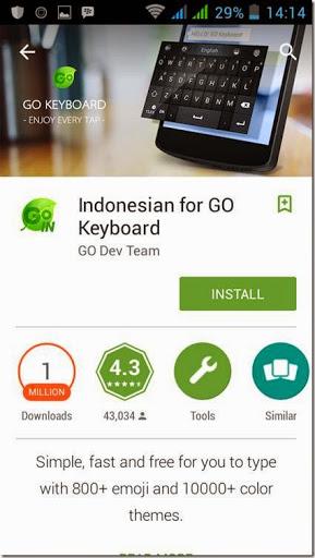 pengaturan tampilan aplikasi go keyboard di hp android