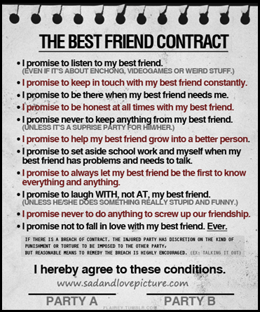 The best friend contract sad and love picture post navigation thecheapjerseys Gallery