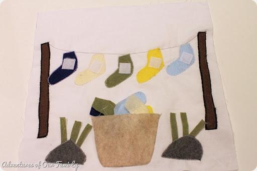 Sock matching quiet book template