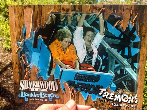 photo of the photo.  I knew where the camera was from past years on this coaster