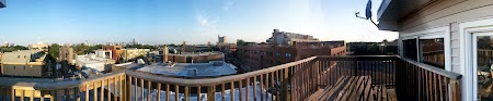 View from the hostel balcony