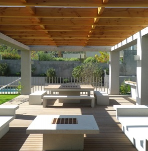 Casa moderna Ovalle-Salinas muebles terraza