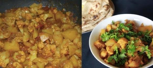 Cauliflower Potato Fry step4