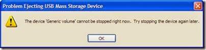 perbaiki error generic volume saat mencabut flashdisk