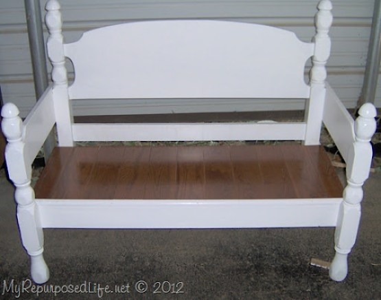 50 headboard bench ideas   My Repurposed Life®