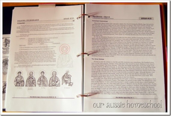 Our Aussie Homeschool | Project Passport: The Middle Ages, Guide Book aka Teacher's Manual