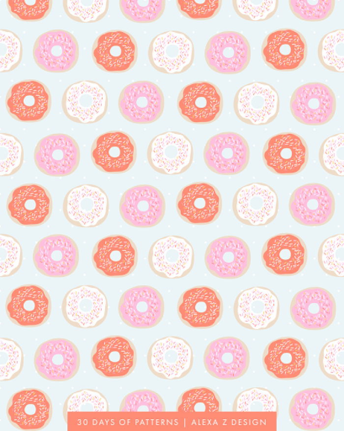 donut pattern 30 Days of Patterns Alexa Z Design