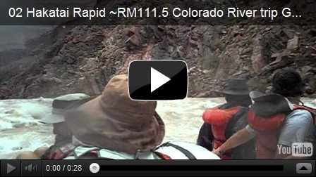 Hakatai Rapid ~RM111.5 Colorado River trip Grand Canyon National Park Arizona