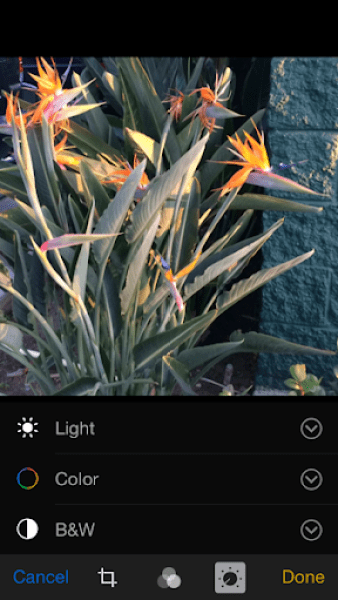iOS 8 Photos app Adjustments