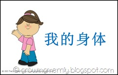 My Body Theme Pouch - Girl- Chinese