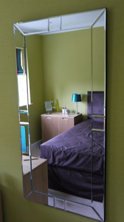 Mirror in the 'green room'