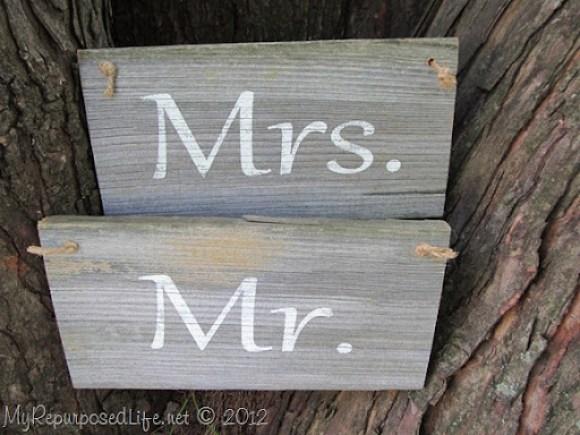 Rustic Wedding Signs