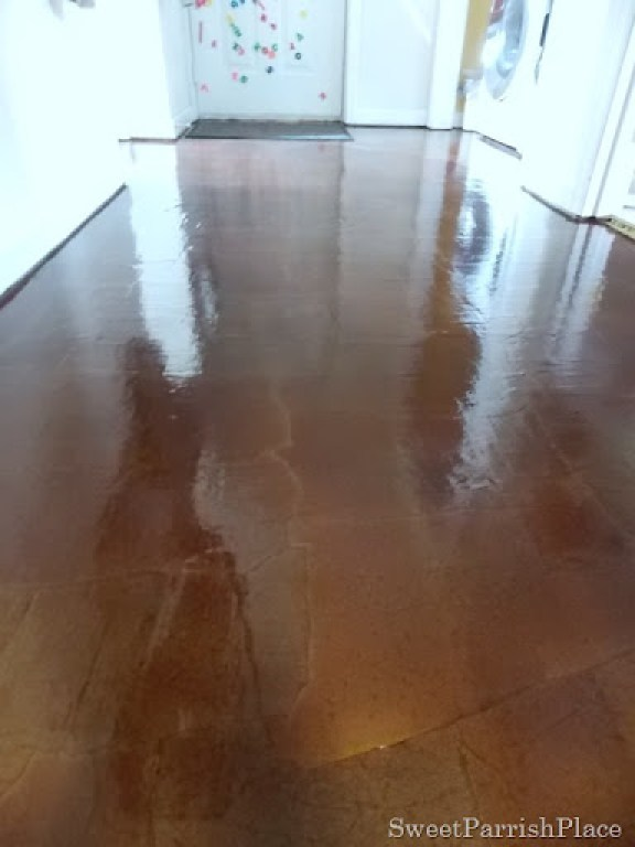DIY brown paper floor