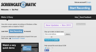 interface screencast-o-matic free
