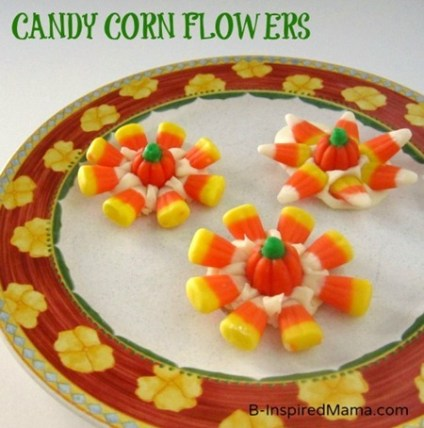 Candy Corn Flowers 4