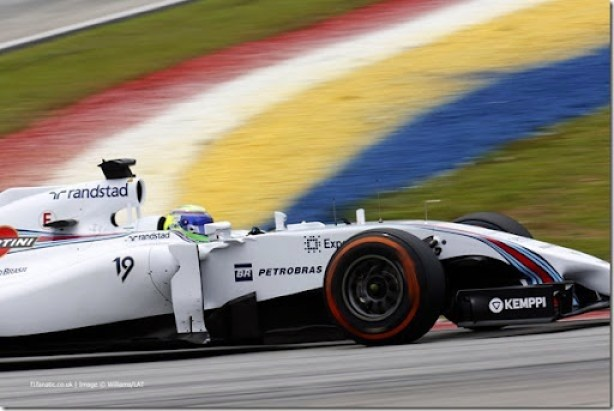 Sepang International Circuit, Sepang, Kuala Lumpur, Malaysia.Saturday 29 March 2014.Felipe Massa, Williams FW36 Mercedes.Photo: Alastair Staley/Williams F1.ref: Digital Image _MG_1213