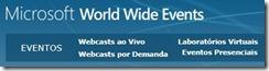 Microsoft Webcast eventos e  postcast