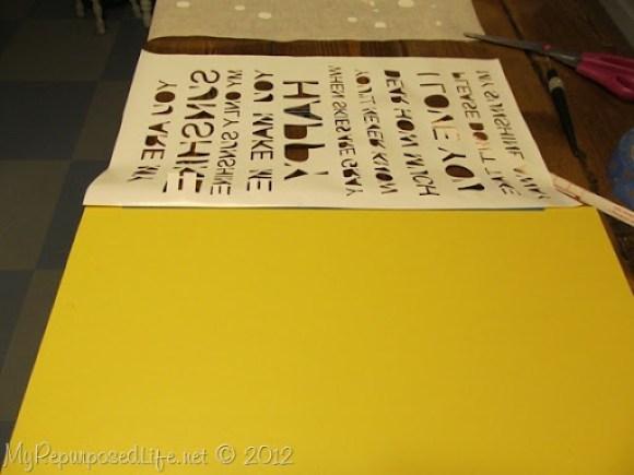 using vinyl for a stencil