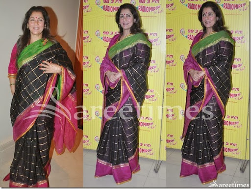 Image result for dimple kapadia sari