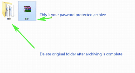 How to use Winrar as Folder Lock for password protecting