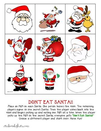 Dont-Eat-Santa-Christmas-Game