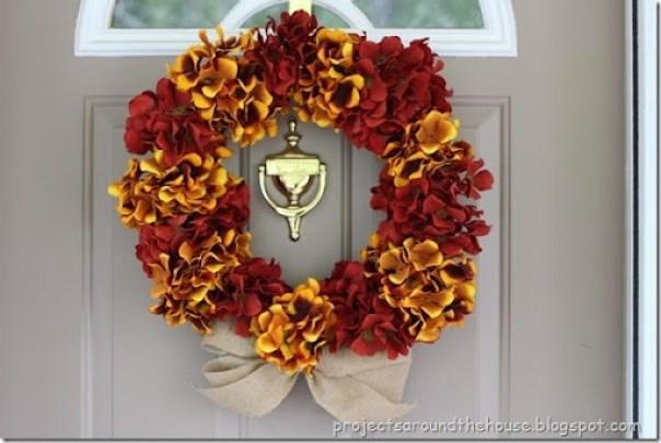 DIY Hydrangea Wreath