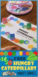 Hungry Caterpillars Money Games Hungry Caterpillars Money Games   free printable game for preschool  kindergarten 1st grade 2nd grade 3rd