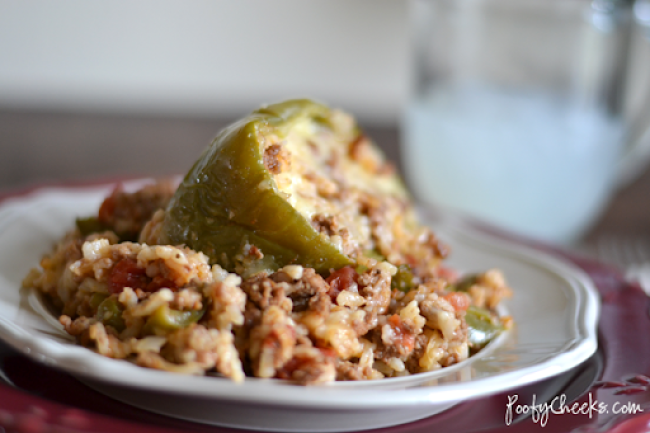 Stuffed Green Pepper Recipe - Easy Dinner Idea