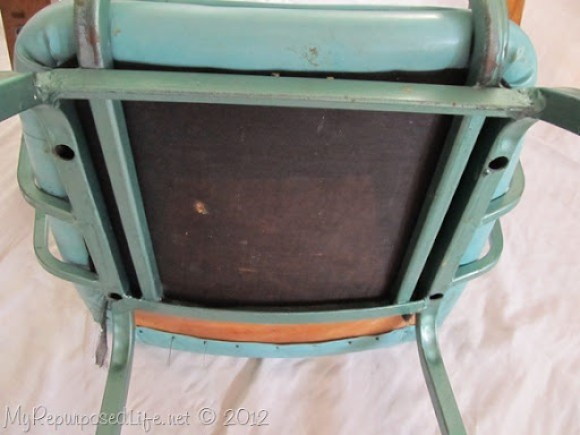 vintage metal rocking chair (6)